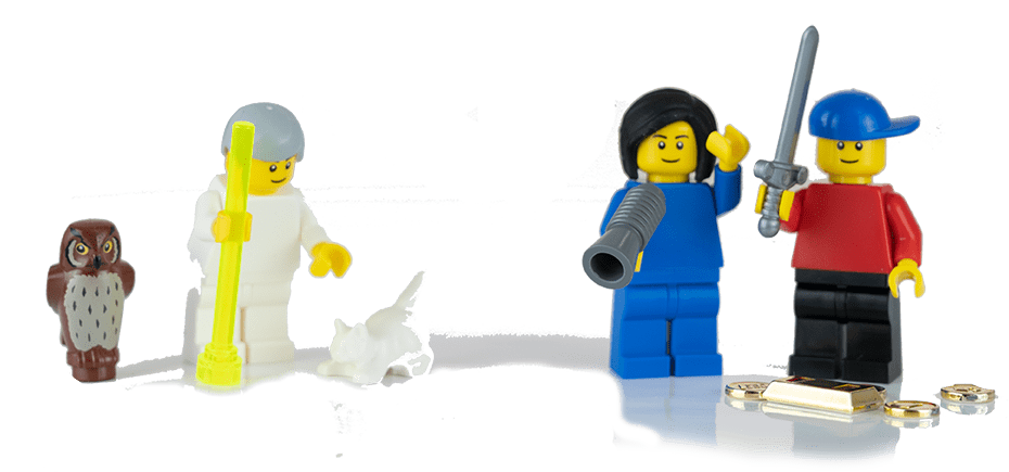 3C - successful guidance of hero and heroine by sage symbolised by Lego® figure